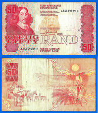 South Africa 50 Rand 1984 Sign de Kock Prefix AC Animal Free Shipping Worldwide