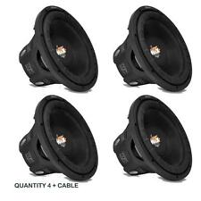 "Lot of (4) NEW Lanzar MAXP64 6.5"" 1200W Small Enclosure 4 Ohm 600W Subwoofers"