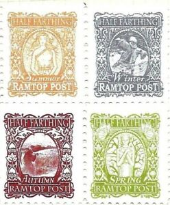 Discworld Stamp Winter Summer Spring Autumn Ramtops Regional Post Seasons Sport