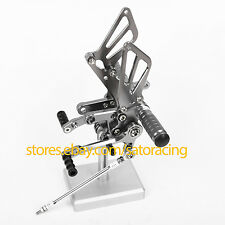 For Suzuki GSXR600 /SV650/S 2000-2005 Footpegs Rear Set Rearsets 2004 2003 Grey