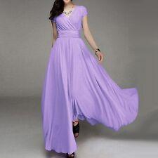 Women Boho Wedding Bridesmaid Long Evening Party Ball Gown Cocktail Maxi Dress