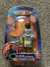 More details for doctor who figure - 1970`s classic sea devil with k.1 body part!