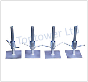 Scaffold Tower Adjustable Legs - Set of 4 Feet Base Plates Bases Classic Towers