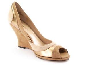 New ENZO ANGIOLINI Women Suede High Wedge Heel Slip On Comfort Pump Shoe Sz 8 M