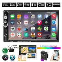 "7"" Double 2 DIN Car MP5 Player Bluetooth Touch Screen Stereo Radio FM USB AUX TF"