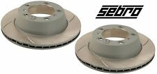 For Boxster Cayman Pair Set of Rear Left & Right Disc Brake Rotors Sebro Slotted