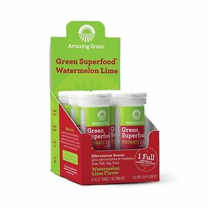 Amazing Grass Effervescent Electrolyte Tablets: Greens + Hydration Water Flav...