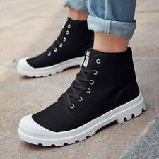 Men Canvas Casual Shoes Outdoor High Top Sports Ankle Boots Sneakers Multi Color