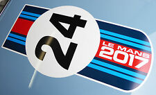 LE MANS 24 heures 2017 grand BONNET autocollant « Couleurs Martini » decal 24