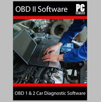 NEW OBD2 CAR DIAGNOSTIC SOFTWARE SCANNER TOOL + ECU BHP TUNING OBDII ELM327