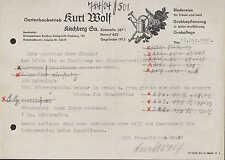 KIRCHBERG SA., Brief 1956, Gartenbaubetrieb Kurt Wolf