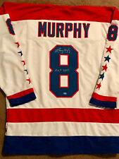 Larry Murphy Signed White Jersey - Washington Capitals Hall of Famer