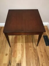 Saybolt-Cleland Mahogony End Table, three square corners and one round corner