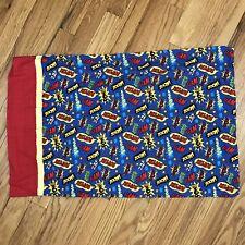 Action Words Pop Art Pillowcase Single Standard Handmade Super Heros AQ