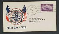 1938 Washington DC Iowa Stamp Centennial Celebration Illustrated First Day Cover