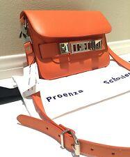 Auth Proenza Schouler Orange Leather PS11 Classic Flap Shoulder Bag $1950