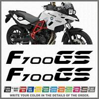 2x F700 GS Black BMW Motorrad ADESIVI PEGATINA STICKERS AUTOCOLLANT AUFKLEBER