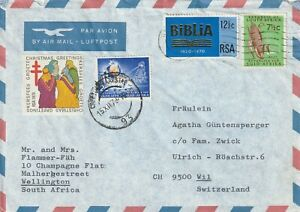 1978 South Africa cover sent from Kapstadt to Wil Switzrland