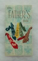 Vintage Father's Day Card - Colorful Ties - Gold Glitter - Envelope - Art Guild