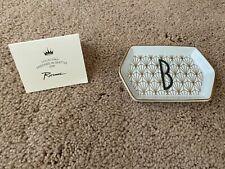 "new character letter B Rosanna porcelain tray trinket tray 4"" x 2.65"""