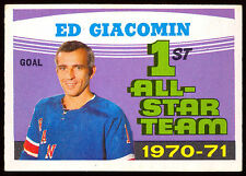 1971 72 OPC O PEE CHEE #250 ED GIACOMIN EX-NM ALL STARS TEAM N Y RANGERS HOCKEY