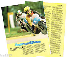 vintage DIETER BRAUN MOTORCYCLE Racing Article / Photo's / Pictures