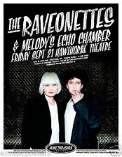 RAVEONETTES / MELODY'S ECHO CHAMBER 2012 PORTLAND CONCERT TOUR POSTER - Indie