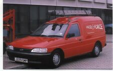 Ford Royal Mail Parcel Force Technical Services Van Luton Airport 1994 postcard