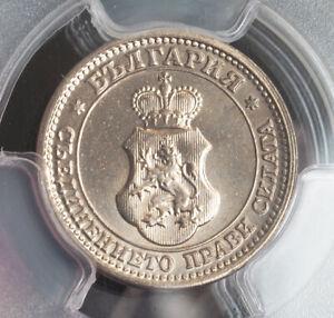 1913, Kingdom of Bulgaria, Ferdinand I. Nice Cu-Ni 5 Stotinki Coin. PCGS MS-65!