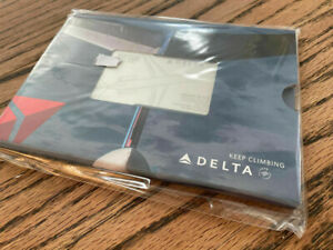 Limited Edition Delta Airlines $50 Metal DC-9 Gift Card UNOPENED w FULL GC VALUE