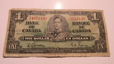 1937 Canada one dollar note Gordon/Towers signature , Y/A 4072139