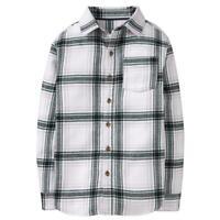 NWT Crazy 8 White Plaid Boys Flannel Button Down Shirt 5/6 7/8 10-12 14
