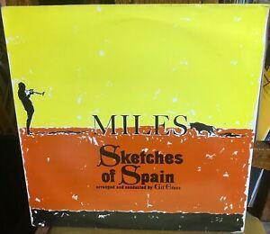 MILES DAVIS sketches of Spain 1980's UK CBS SUNBURST STEREO VINYL REISSUE LP