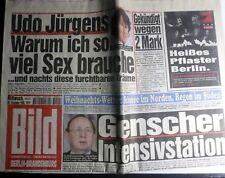 Bild-Zeitung vom 20 Dezember 1995 Udo Jürgens, H.d. Genscher