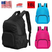 Outdoor Waterproof Travel Bag Hiking Climbing Foldable Backpack For Men Women US