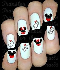 Autocollant stickers ongles Mickey Minnie Mouse nail art manucure déco