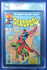 DEADPOOL #11 (1997 Marvel) PGX (not CGC) 9.6 NM+ - Deadpool A.F. 15 cover swipe!