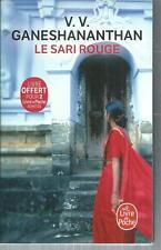 Le Sari rouge.V. V. GANESHANANTHAN.Livre de poche G001