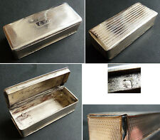 Tabatière boite en argent massif 19e siècle silver box
