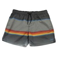 Billabong Lay Backs Elastic Waist Mens Board Shorts Size 36 Striped Multicolour
