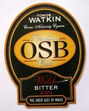 Beer Pump Clip Badge Premium OSB Welsh Tomos Watkin Swansea Wales BP216