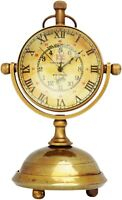 Antique vintage brass desktop clock collectible maritime marine table top watch