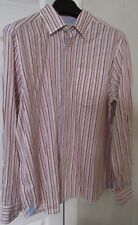 Tommy Bahama Jeans 100% Cotton Mens Long Sleeve Button Front Shirt Med Stripes