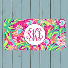 Lilly Pulitzer Inspired Personalized License Plate Monogram Car Tag