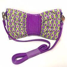 VERA BRADLEY SWAK Frill Bow Clutch Bag Crossbody Purse in Purple Punch
