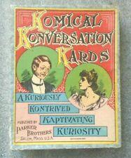 old Parker Brothers card game  Komical Konversation