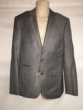 Express Blazer Suit Jacket Mens 36 Reg Gray Photographer Fitted NWT $298