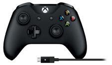 Microsoft Xbox Controller und Kabel für PC/Xbox One/Xbox One S - Schwarz (4N6-00002)