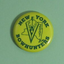 2007 New York Bow Hunters Archery Club Membership Button Pin...Free Shipping!