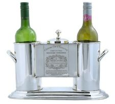 Nickel Plated 2 Bottle Wine Cooler Ice Bucket